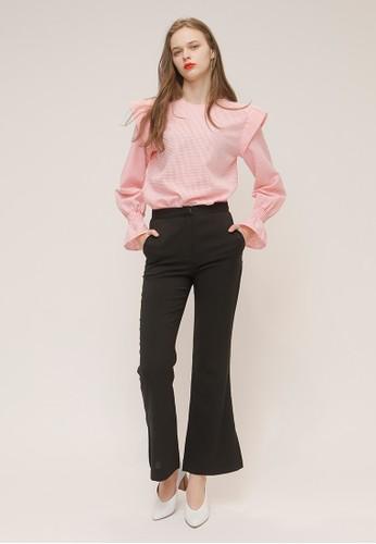 圓領esprit taiwan粉色可愛襯衫, 服飾, 上衣