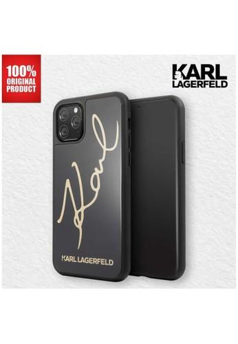 "KARL LAGERFELD black Karl Lagerfeld - Case Iphone 11 Pro Max 6.5"" Karl Signature TPG Black 15191ES222F2DFGS_1"