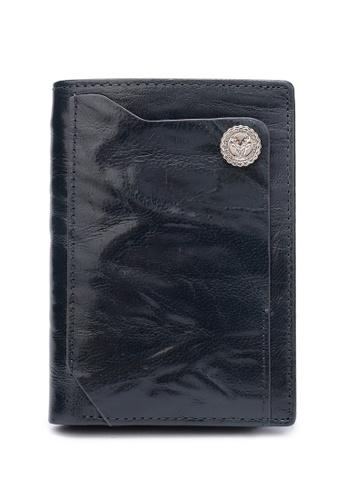 DUSTY blue Wrinkle Flip Zipper Wallet 6F51AAC1E4306EGS_1