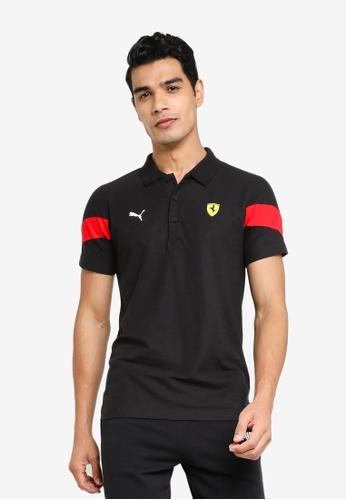 PUMA black Scuderia Ferrari Race Men's MCS Polo 38272AA0A3C2DBGS_1