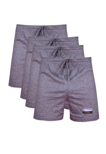 Walker Underwear grey Drawstring Boxer Shorts in Grey (Bundle of 4) 555E1AA6F22186GS_1
