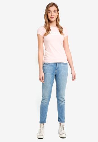 Calvin Klein pink Short Sleeve Institut Logo Tee - Calvin Klein Jeans 630D8AAC91E083GS_1