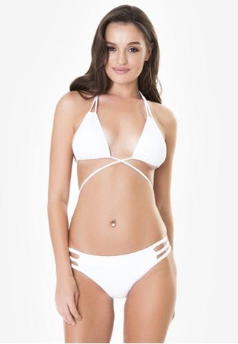 Naked Sun Swimwear white Calypso String Triangle with Halter Detail NA317US0IZICPH_1