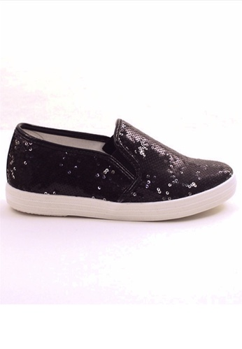 5b1d4b942919 Crystal Korea Fashion black Korean Sequin Flat Casual Shoes  DBBB9SH3024F5EGS_1