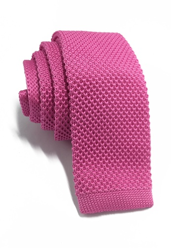 Splice Cufflinks Interlace Series Hot Pink Knitted Tie SP744AC96KSXSG_1