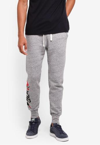 Hollister 灰色 Super Skinny Embroidery Sweatpants C3A1EAA1FF66DDGS_1