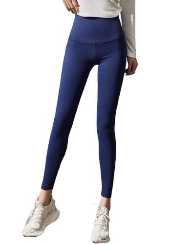 Trendyshop blue High-Elastic Fitness Leggings 2A528USC6B1697GS_1