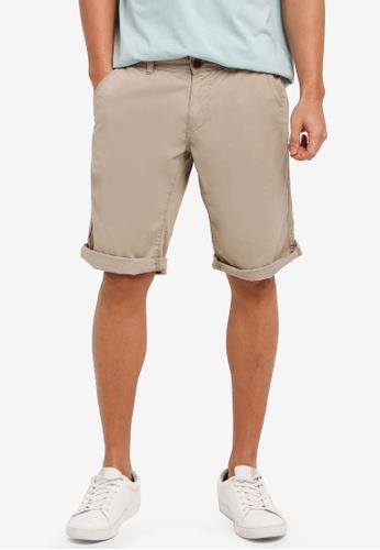 ESPRIT 米褐色 Woven Regular Shorts 1C2C9AA0C12E73GS_1