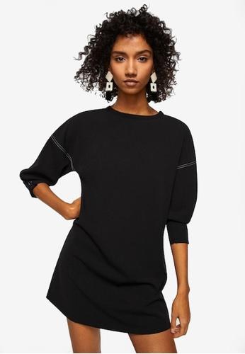 Mango black Contrast Seam Dress 3CBDDAA0EA9203GS_1