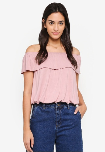 Vero Moda pink Louisa Off Shoulder Top 9917AAA50A6871GS_1