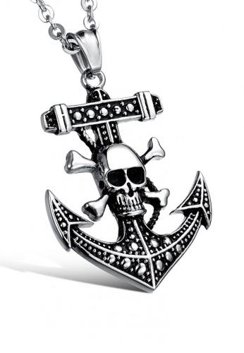 Sopistikada silver Voodoo Anchor Necklace 22AEBACFC09A1CGS_1