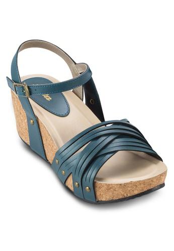 esprit outlet 台灣VARANA 踝帶厚底楔形涼鞋, 韓系時尚, 梳妝