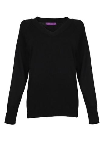 POPLOOK black Emrence Knitted Sweater 5D4FDAA5CB7DD4GS_1