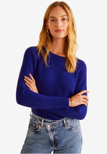 MANGO blue Wool-Blend Knit Sweater 6EC5BAA834880CGS_1