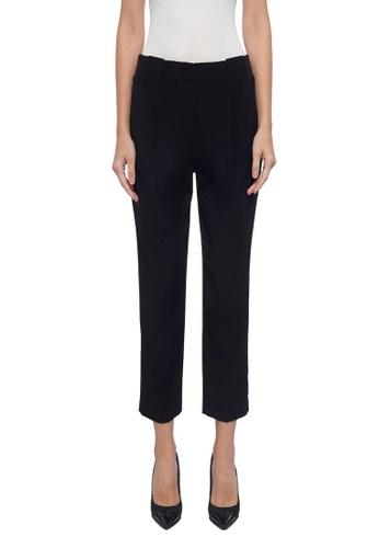 ck Calvin Klein 黑色 皺背緞紋長褲 D5FCBAAF68004AGS_1