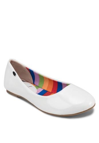 經典漆面圓頭esprit台灣門市平底鞋, 女鞋, 芭蕾平底鞋