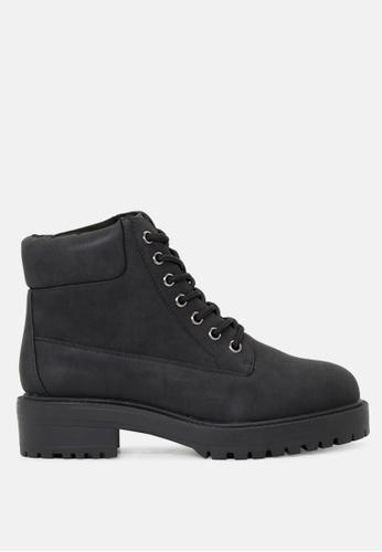 London Rag 黑色 系鞋带脚踝短靴 SH1719 ECF66SH209B84BGS_1
