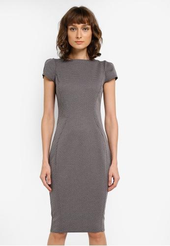 CLOSET grey Pique Bodycon Dress CL919AA0SNXKMY_1
