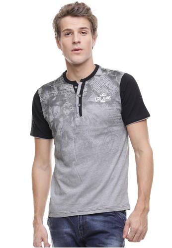 LGS grey LGS - Slim Fit - Kaos Henley - Gambar Bayang - Abu LG695AA0VG1UID_1