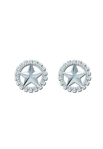 SC Tom Silver silver Star around Stud Earring SC872AC29VPUPH_1
