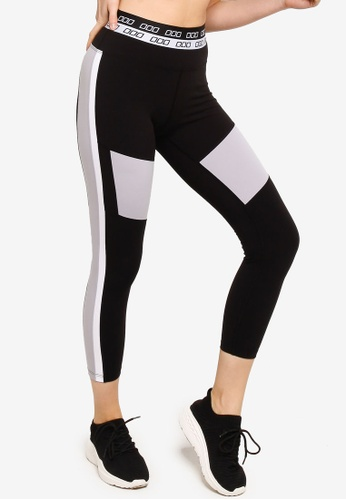 Lorna Jane grey Icon Retro Sport Ankle Biter Tights B25A6AA829D370GS_1