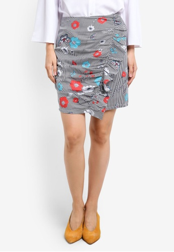 ZALORA black Ruffle Mini Skirt BC6E7AAA2E36DCGS_1