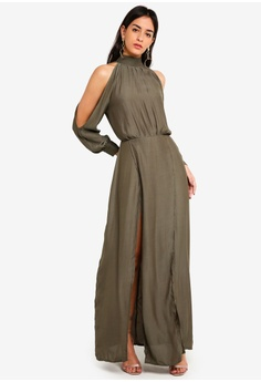 9d754e299d 30% OFF MISSGUIDED Split Front Satin Maxi Dress RM 239.00 NOW RM 166.90  Sizes 10