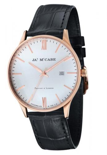 James McCabe black James Mccabe LONDON JM-1016-03 Men's Black Genuine Leather Strap Watch 0C2D0ACEA108BAGS_1