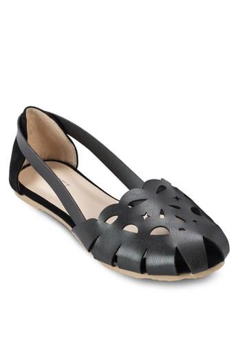 Mila 鏤空圓頭平底鞋, 女鞋, zalora 手錶 評價鞋