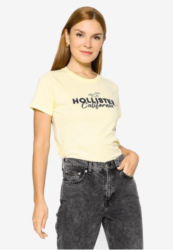Hollister yellow Tech Core Top 8D32CAABC99D85GS_1