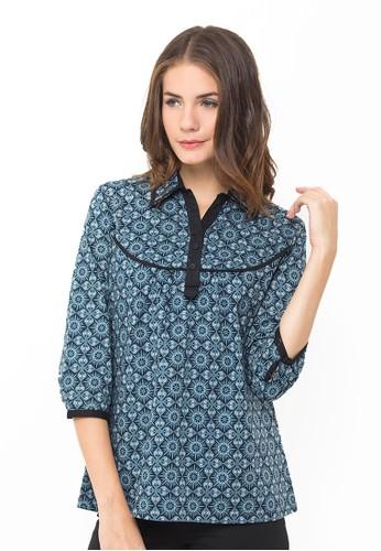 Batik Indra Loka Short Sleeve Blouse Manarola