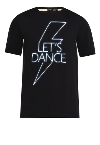 UniqTee black Let's Dance Printed Tee 54D63AA015CCD1GS_1