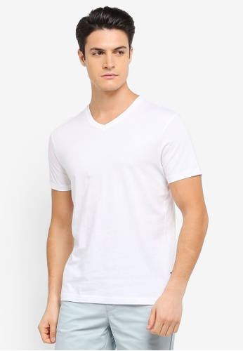Burton Menswear London white White V-Neck T-Shirt BU964AA0T1HOMY_1
