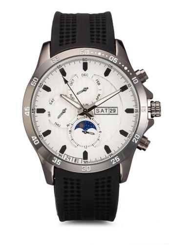 潛水員橡膠錶帶手錶,zalora 折扣碼 錶類, 飾品配件
