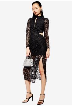 6bda8993ec12 TOPSHOP black Lace Cut Out Midi Bodycon Dress 01514AA90454A5GS_1