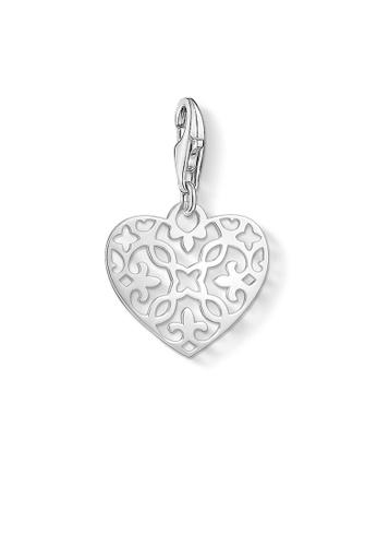 "THOMAS SABO silver Charm pendant ""Arabesque heart"" 107C6AC551EE39GS_1"
