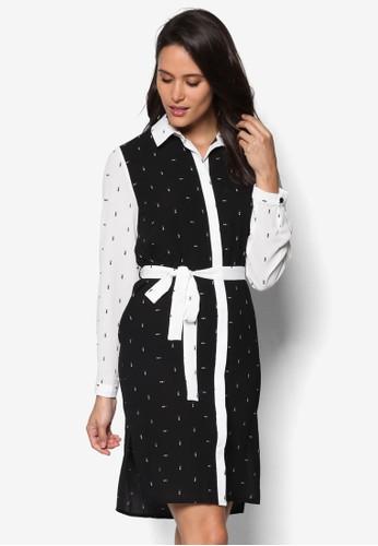 撞色拼接印花襯衫連身裙、 服飾、 T-shirtDorothyPerkins撞色拼接印花襯衫連身裙最新折價