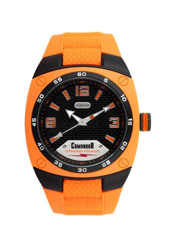 Sk Time Watch Shop orange Comandor C149-1-15-50 Resistant Sport Watch 9EF5CACFEC8A57GS_1