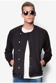 Asymmetrical Baseball Jacket