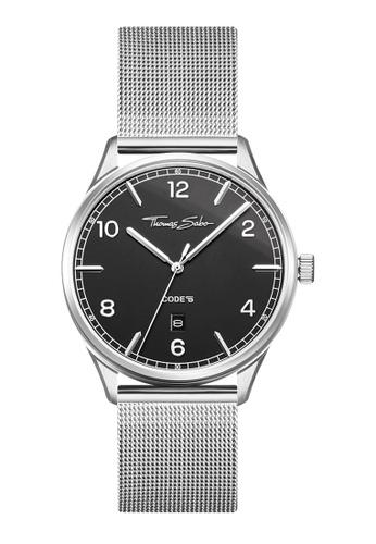 "THOMAS SABO silver Watch unisex ""CODE TS silver black"" 3A80DAC27ED922GS_1"