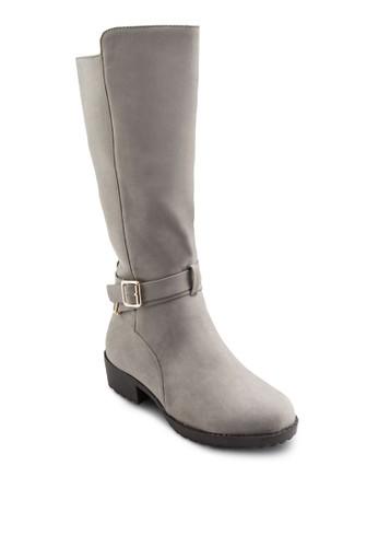扣環帶中筒靴,esprit地址 女鞋, 靴子