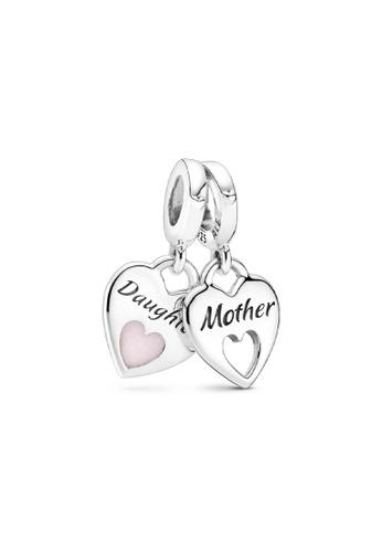 PANDORA silver Pandora Double Heart Split Dangle Charm 2D2ACAC9362D6FGS_1