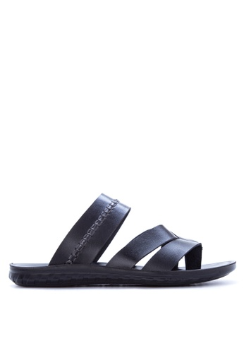Italianos black Byron Sandals & Flip Flops IT153SH90GDDPH_1