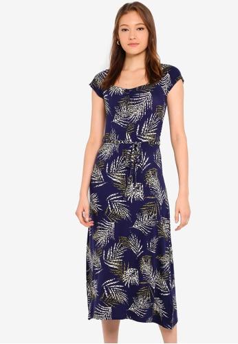 6096e75a4cd2 Buy Dorothy Perkins Navy Ruched Jersey Midi Dress Online on ZALORA ...