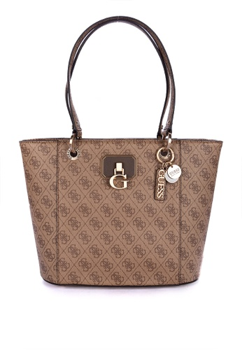 Guess brown Noelle Small Elite Tote Bag D4CFDAC6A12769GS_1