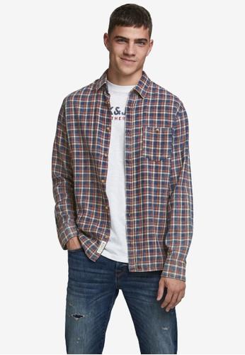 JACK & JONES multi Hans Long Sleeve Shirt 67A20AA7759D55GS_1