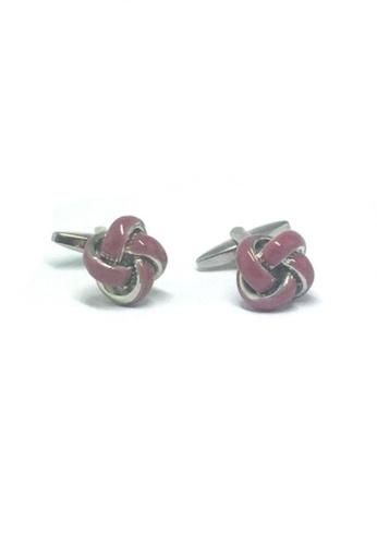 Splice Cufflinks pink Pink Knot Cufflinks   SP744AC34DUJSG_1