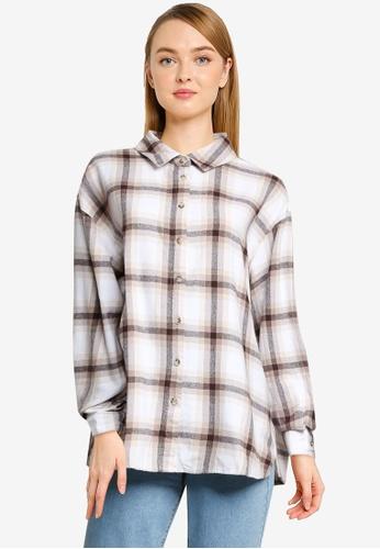 Supre multi Lottie Oversized Check Shirt 322BAAA658A28BGS_1