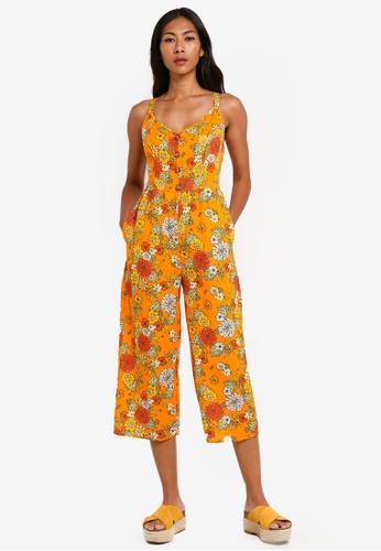 Cotton On orange Woven Toni Strappy Jumpsuit F2C23AAD286AB9GS_1