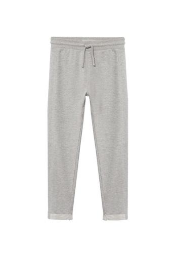 MANGO KIDS grey Organic Cotton Jogger Trousers 72ECCKA8531B87GS_1